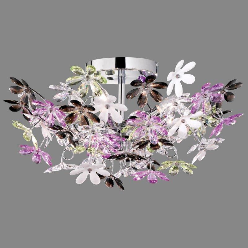 Kattoplafondi Flower Ø 500x250 mm kromi/monivärinen