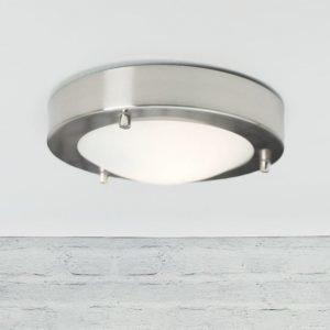 Katto/seinävalaisin Ancona LED IP43/44 Ø 180x50 mm harjattu teräs