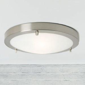Katto/seinävalaisin Ancona Maxi LED IP43/44 Ø 310x60 mm harjattu teräs