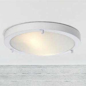 Katto/seinävalaisin Ancona Maxi LED IP43/44 Ø 310x60 mm valkoinen