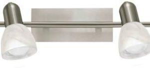 Kattospotti Ares 1 4-osainen 780x70x150 mm harjattu teräs/valkoinen