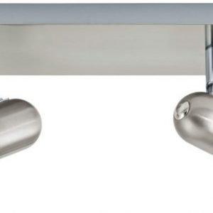 Kattospotti Enea 300x70 mm 2-osainen valkoinen/harjattu teräs
