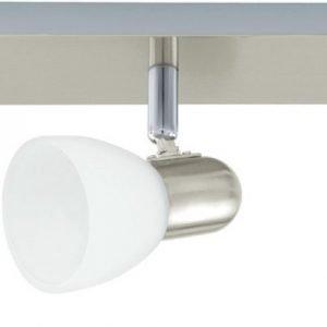 Kattospotti Enea 500x70 mm 3-osainen valkoinen/harjattu teräs