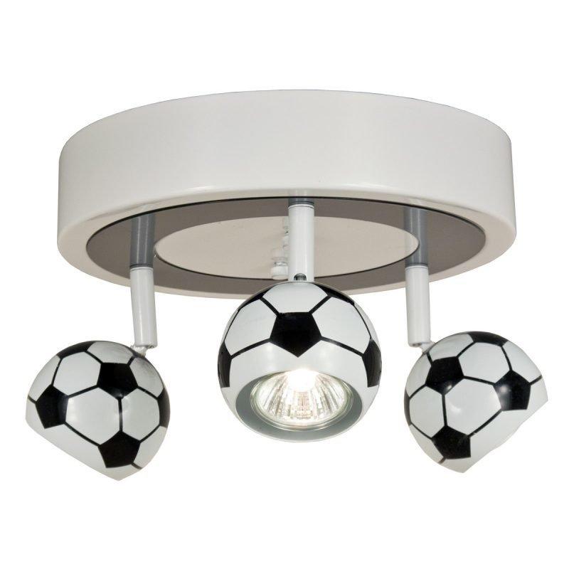 Kattospotti Football Ø 250x160 mm 3-osainen valkoinen/musta