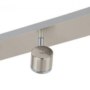 Kattospotti LED Pierino 3-osainen harjattu teräs kromi