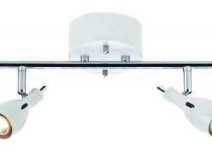 Kattospotti Lammhult 810x180 mm 4-osainen valkoinen/kromi