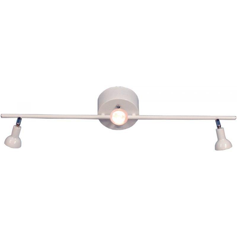 Kattospotti Scan Lamps Toby 135x760x190 mm 3-osainen suora valkoinen