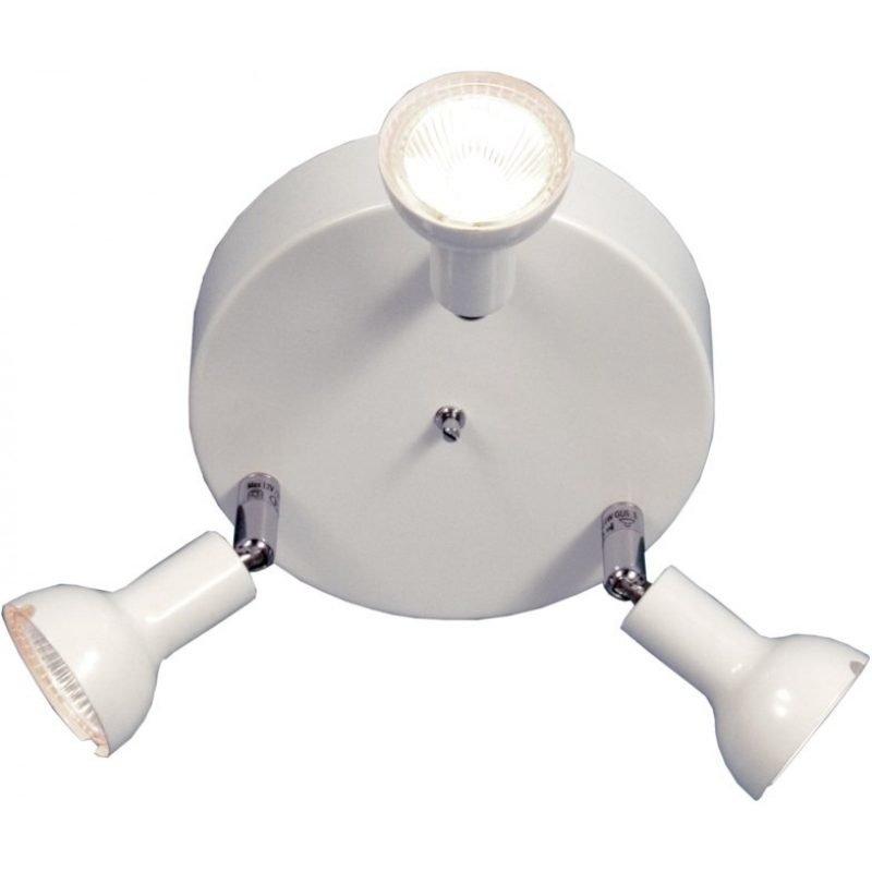 Kattospotti Scan Lamps Toby 160x160x130 mm 3-osainen pyöreä valkoinen