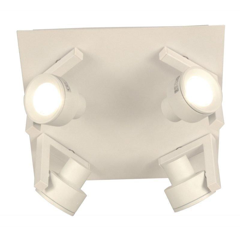 Kattospotti Vinkel 300x300x147 mm 4-osainen valkoinen