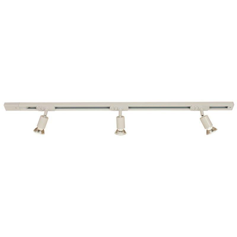 Kattospottisetti Trackline Tube kisko 1000 mm + 3 kpl kattospotti valkoinen