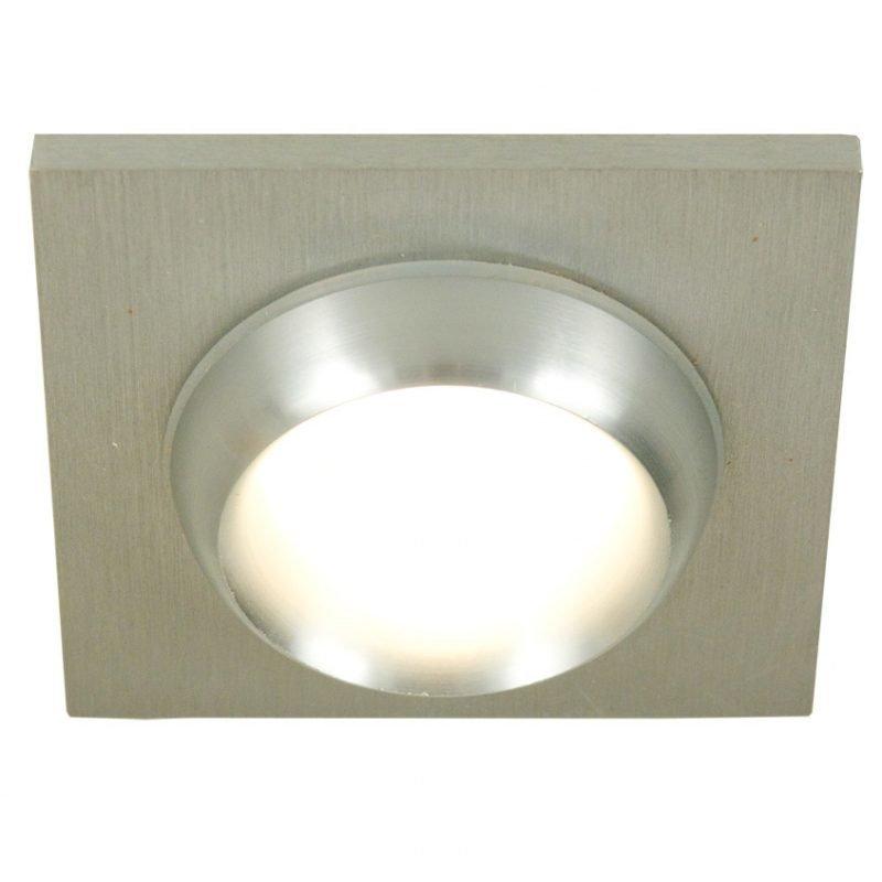 Kattovalaisin Avitus IP44 78x78x16 mm upotettava alumiini/satiinilasi