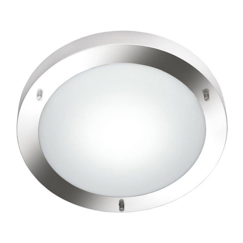 Kattovalaisin H2O 6801 Ø 315x80 mm IP44 harjattu teräs/opaalilasi