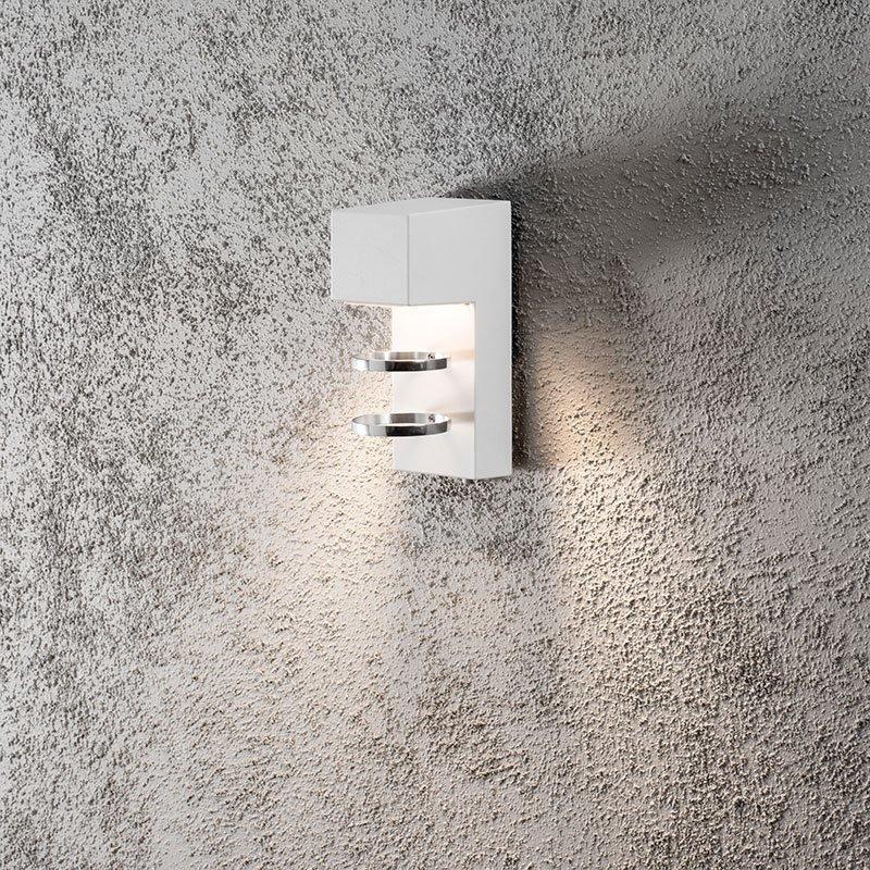 Konstsmide Acerra Seinävalaisin Valkoinen