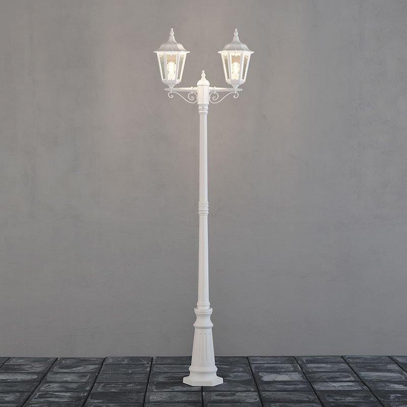 Konstsmide Firenze Pylväsvalaisin Valkoinen