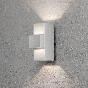 Konstsmide LED-seinävalaisin Imola 7934-310 100x180x260 mm ylös/alas alumiini