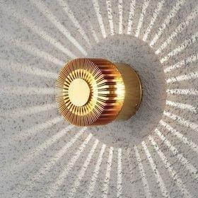 Konstsmide LED-seinävalaisin Monza 7900-800 Ø 90x80 mm messinki