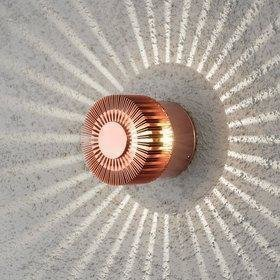 Konstsmide LED-seinävalaisin Monza 7900-900 Ø 90x80 mm kupari