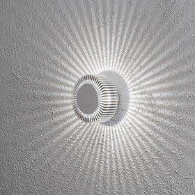 Konstsmide LED-seinävalaisin Monza 7932-310 Ø 150x105 mm alumiini