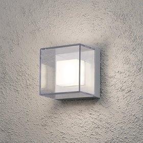 Konstsmide LED-seinävalaisin Sanremo 7924-310 140x110x140 mm alumiini/kirkas