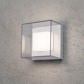 Konstsmide LED-seinävalaisin Sanremo 7925-310 210x140x210 mm alumiini/kirkas