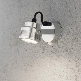 Konstsmide LED-ulkoseinävalaisin Monza 7942-310 95x185x105 mm liiketunnistimella alumiini