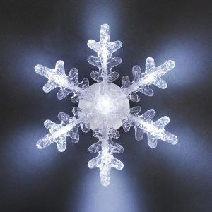 Konstsmide Led Lumihiutalekoriste Paristokäyttöinen 21 Cm