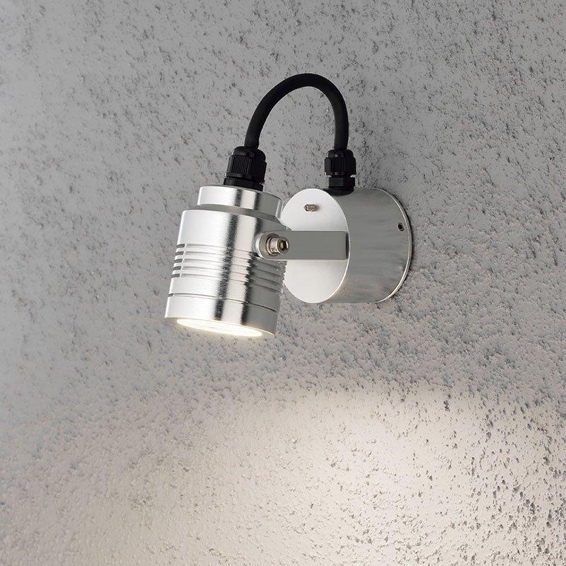 Konstsmide Monza Seinävalaisin Alumiini