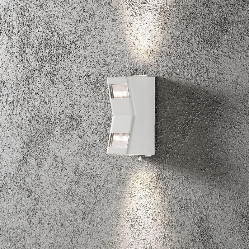 Konstsmide Potenza Seinävalaisin Valkoinen