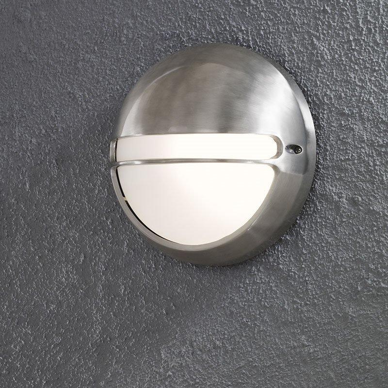 Konstsmide Torino Seinävalaisin pyöreä Alumiini
