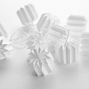 Koodi Paperitynnyrivalosarja Valkoinen