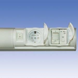 Kylpyhuonevalaisin Alisa AL14229V TC-S 2x9W 597 mm 1-osainen pistorasia + kytkin + vikavirtasuoja