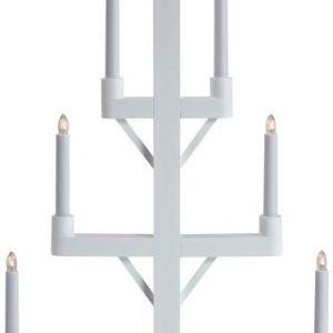 Kynttelikkö Frid 7-osainen puu valkoinen