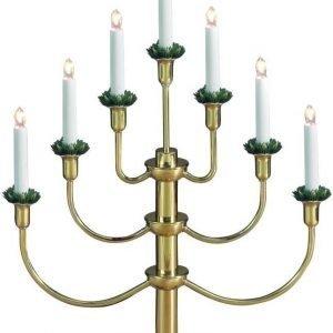 Kynttelikkö Gylling 7-osainen metalli kulta