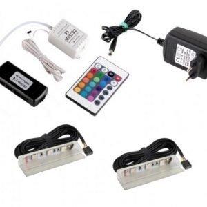 Läpikuultavat PVC LED hylly klipsi ryhmä RGB