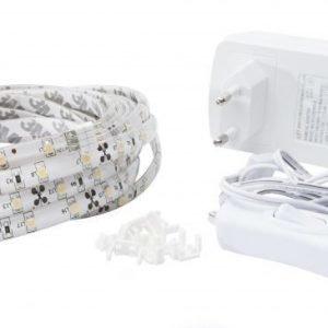 LED BASIC Valonauhasarja 5m 24W 3000K IP20 pistotulpalla