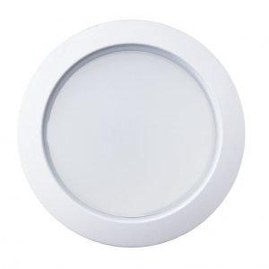 LED ENERGIE alasvalo 6W 550lm lämmin valkoinen hopeinen kehys