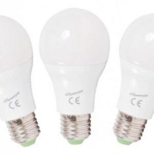 LED Lamppu E27 5W 3x350lm lämmin valkoinen 3000K 3PACK