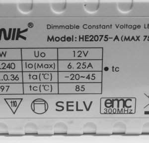 LED Muuntaja 12V / 75W himmennettävä