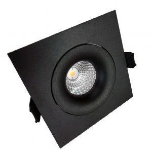 LED QSPOT kohdevalaisin 5W musta 3000K himmennettävä