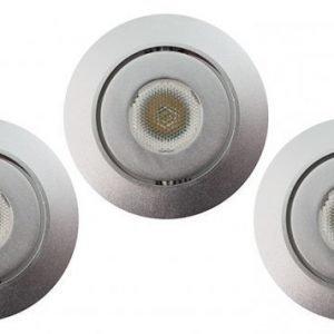 LED STYLE valosarja suunnattava 3x3W 500lm himmennettävä harjattu teräs 3000K