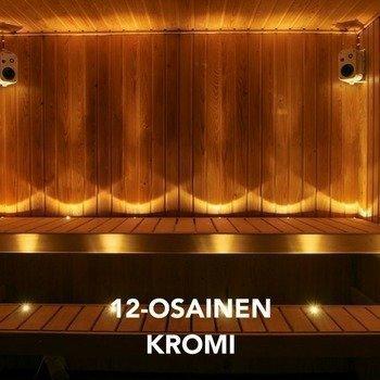 LED Saunavalosarja 12-osainen KROMI