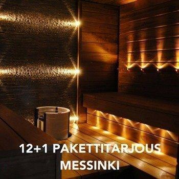 LED Saunavalosarja 12-osainen MESSINKI + 1kpl KiuasLED