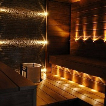 LED Saunavalosarja 18-osainen BLACK + 1kpl KiuasLED