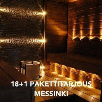 LED Saunavalosarja 18-osainen MESSINKI + 1kpl KiuasLED
