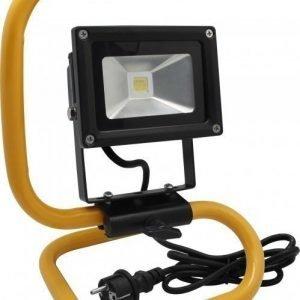 LED Valonheitin 10W musta jalustalla 4500K