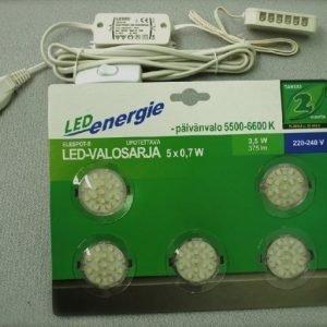 LED Valosarja Elespot-5 5x0.7 W 375 lm 5000-7000K