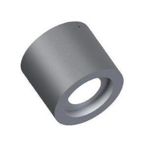 LED-alasvalo Cylinder 100 HV 9W 400lm 3000K Ø 103x92 mm pinta-asennettava harmaa