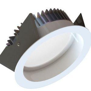 LED-alasvalo Fluxe 185 HV 22W 1250lm 3000K IP44 Ø 230 mm valkoinen