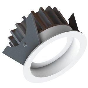 LED-alasvalo Fluxe 75 HV 9W 400lm 3000K IP44 Ø 90 mm valkoinen