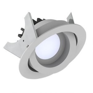 LED-alasvalo Fluxe 90 HV 11W 600lm 3000K Ø 105 mm suunnattava valkoinen